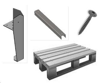 table basse palette matériel
